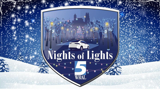 Night of Lights wintry graphic logo