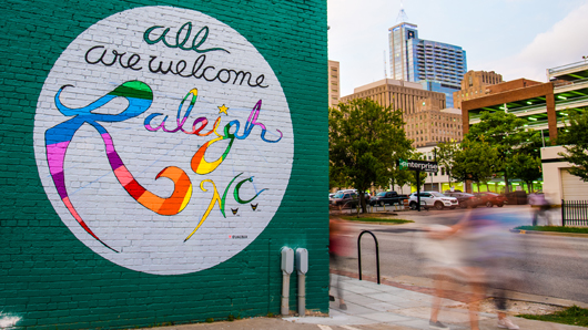 All Are Welcome Raleigh, N.C., mural