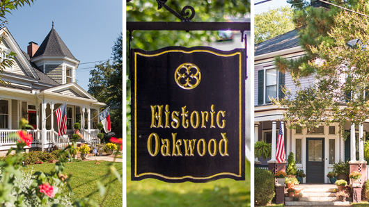 Scenes from the Historic Oakwood neighborhood on a sunny day