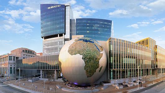 Giant globe at North Carolina Museum of Natural Sciences