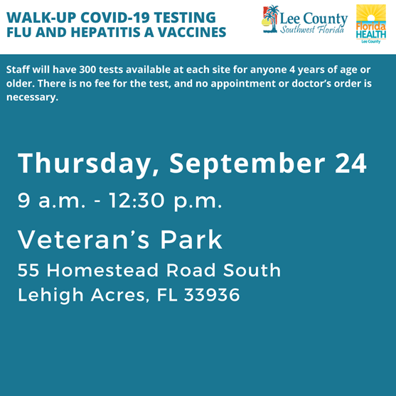 Walk up COVID-19 testing