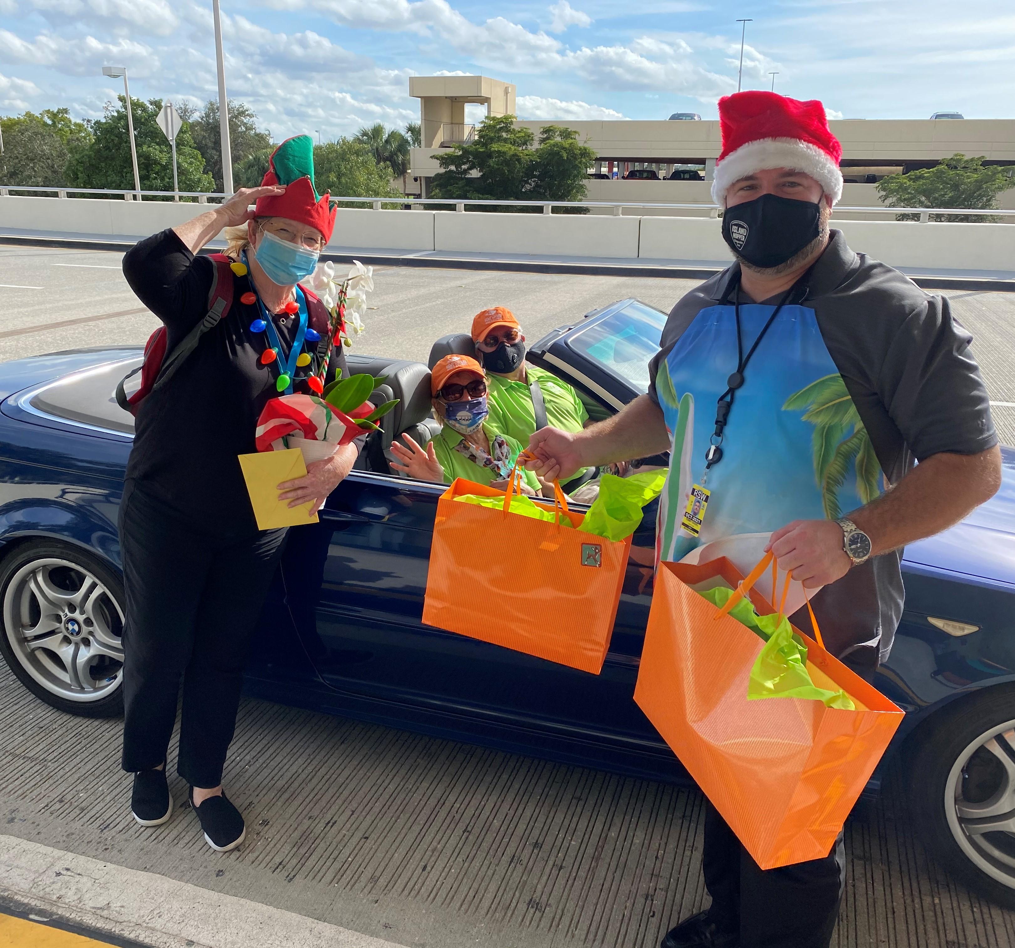 Drive-by Santa celebrates VCB's tourism ambassadors