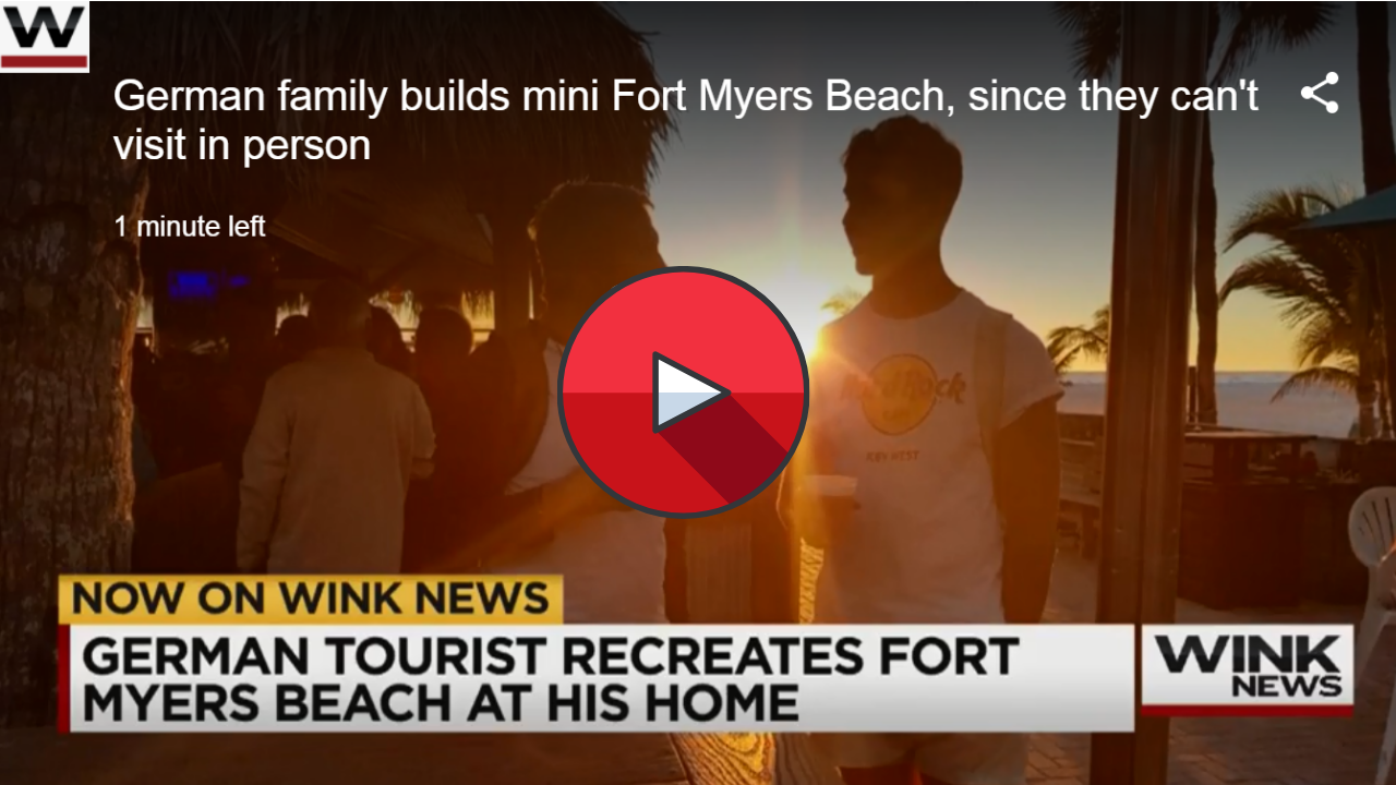 German family builds mini Fort Myers Beach, since they can't visit in person
