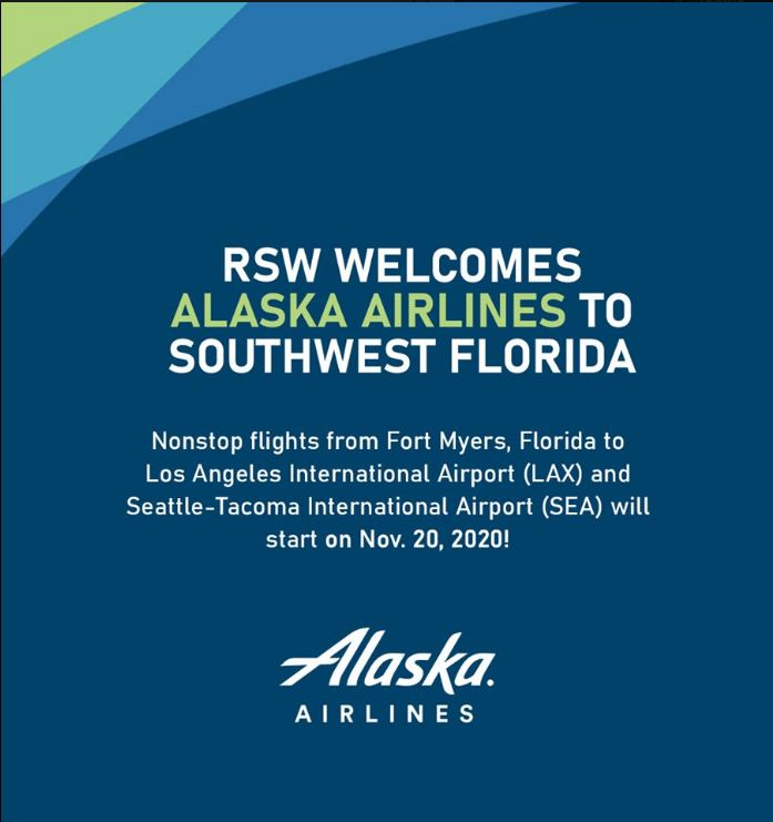 Alaska Airlines to fly to RSW