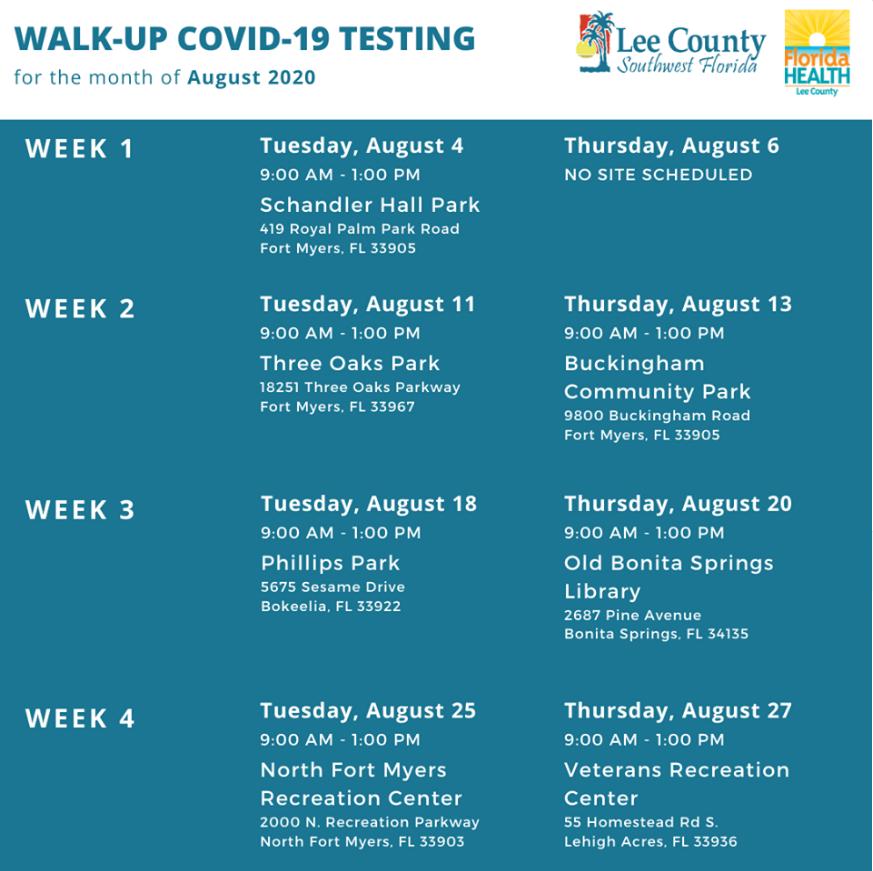 Walk-up COVID-19 testing