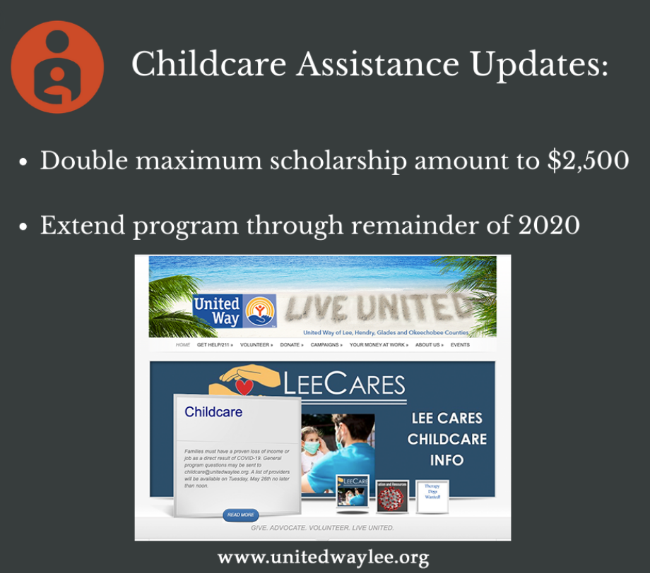 Childcare assistance updates