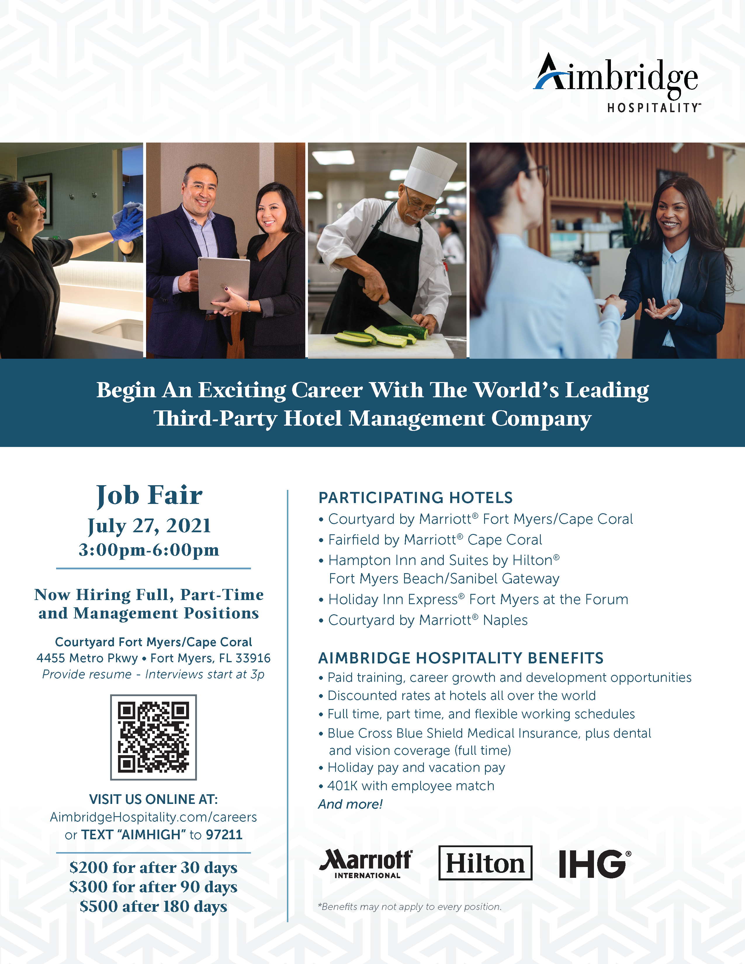 Job fair July 27 at Courtyard Fort Myers/Cape Coral