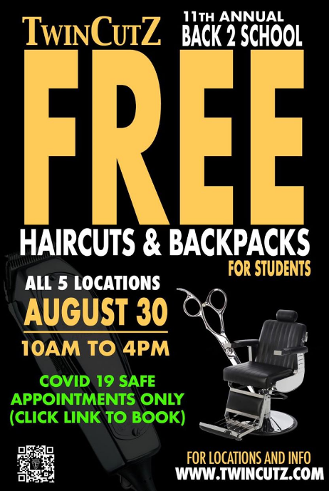 Free haircuts for back-to-school