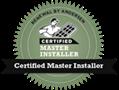 certified master installer seal